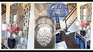 GLAM ENTRYWAY MAKEOVER TOUR 2019! Designer Inspired