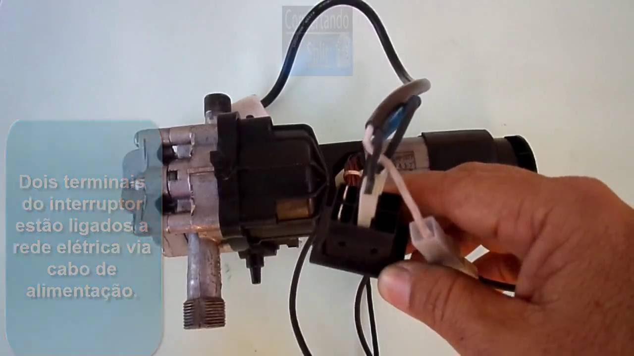 0b153f9e532 Como ligar interruptor ao motor e ao stoptotal da lavadora de alta pressão