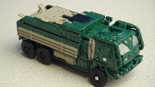 TRANSFORMERS 4 HOUND QUICKDRAW DELUXE CLASS AGE OF EXTINCTION VIDEO TOY REVIEW