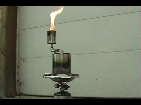 Simple Wood gasifier - YouTube