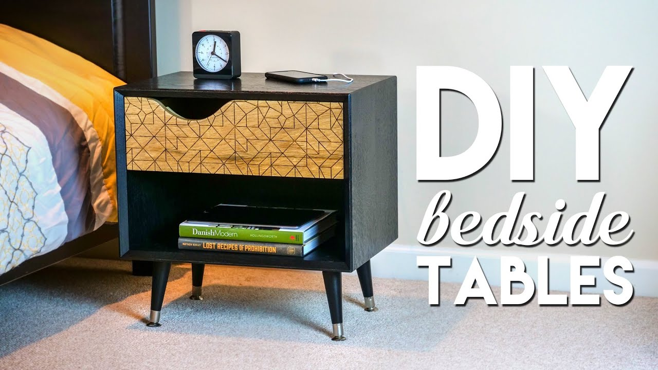 DIY Mid-Century Modern Bedside Table / Nightstand with ...