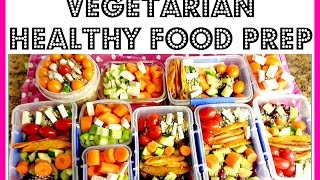 HOW TO FOOD PREP | VEGETARIAN | MY HEALTHY WEEKLY MEAL PREP