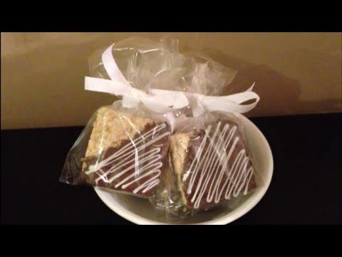 How to Make FORMAL Candy Coated Rice Krispie Treats with Chocolate and Caramel Candy Center