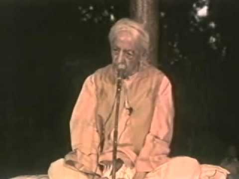 Jiddu Krishnamurti: The Action With No Past Or Future