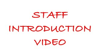 NPSD Staff Introduction Video 2018