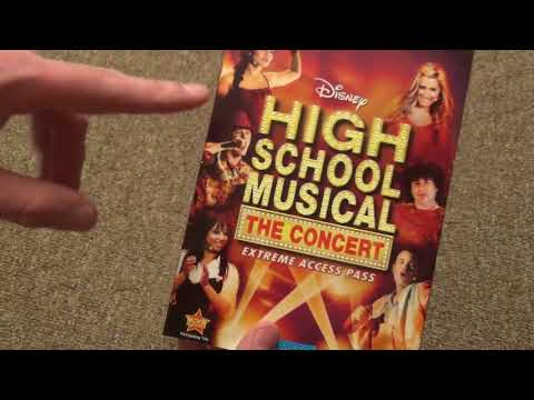 High School Musical The Concert Extreme Access Pass Disney DVD Unboxing