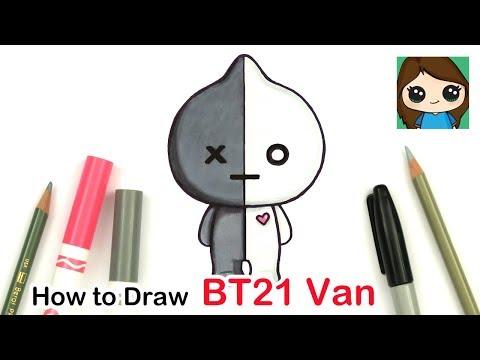 How to Draw BT21 Van | BTS