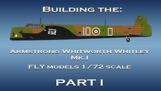 Building the AW Whitley  1/72 scale model - Part I
