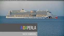 AIDAPERLA am 14.05.20 nach Hamburg