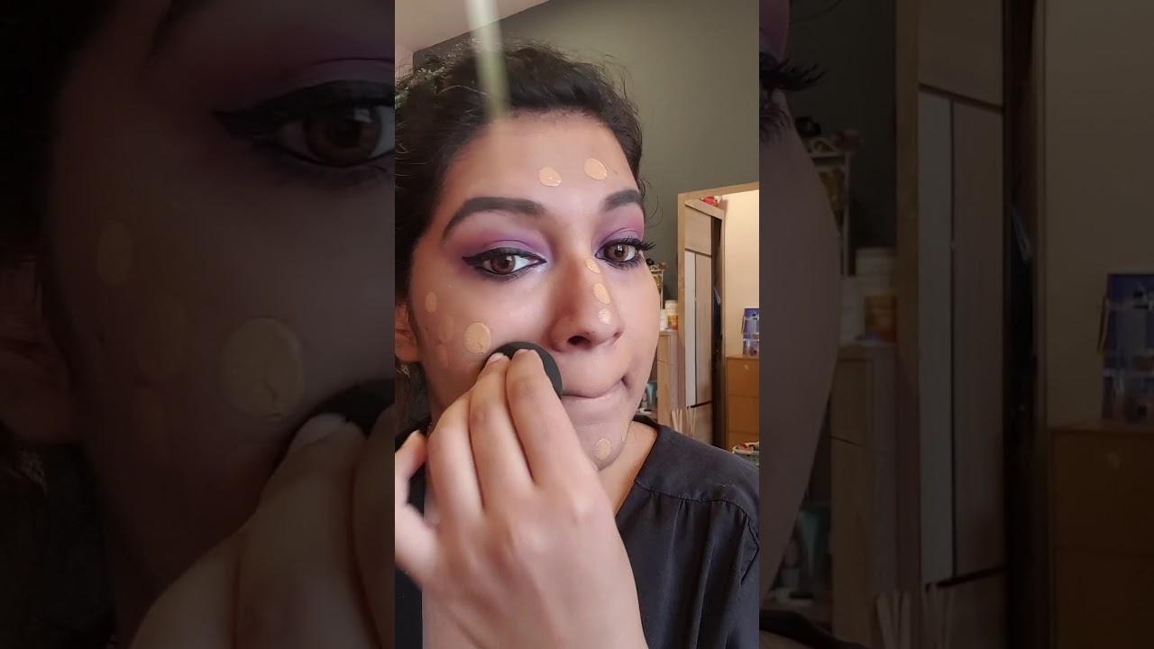 Purple Smokey Eye Indian Look