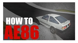 How to use the AE86 [ROBLOX Vehicle Simulator]