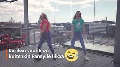 Lasten uutisten juontaja Fanny opettelee flossausta – 12-vuotias Eerika tulee apuun