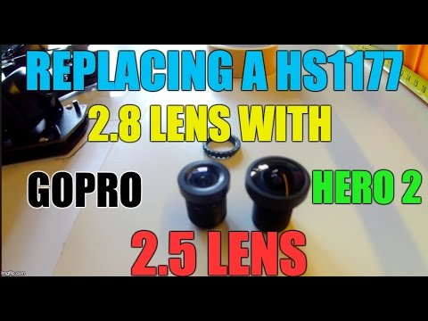 HOW-TO: Replacing a stock  hs1177 2.8 lens with a GoPro Hero2 2.5 replacement lens