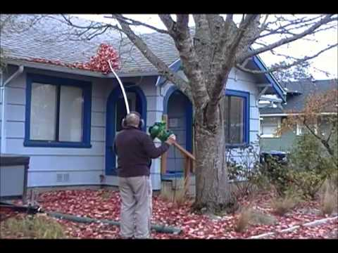 Blowing Leaves Off Roof Without Getting On The Roof Youtube