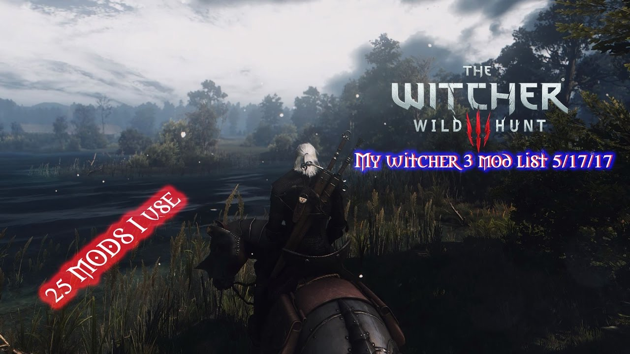 My Witcher 3 modlist (25 Mods to have for the PC)