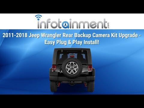 2007-2018 Jeep Wrangler Rear Backup Camera Kit Upgrade - Easy Plug & Play Install!