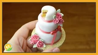 Làm bánh kem Wedding hoa hồng tí hon - Wedding cream cake with roses