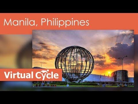 Virtual Cycle Techno Ride in Manila,Philippines with Up Beat Music Mixes