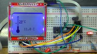 Using a Nokia type LCD with Atmel AVR ATmega8 and AVR-GCC.