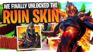 WE FINALLY UNLOCKED THE RUIN SKIN - Fortnite Ruin Challenges