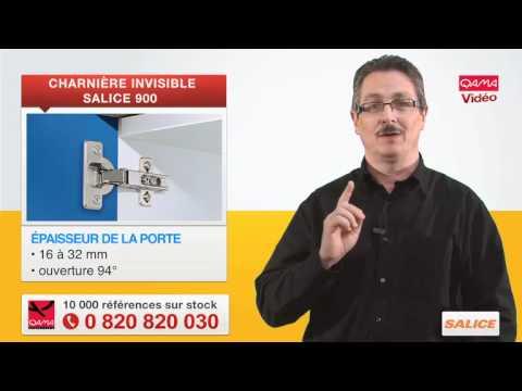 Charni re invisible s rie 900 salice par qama youtube - Pose de charniere invisible a visser ...