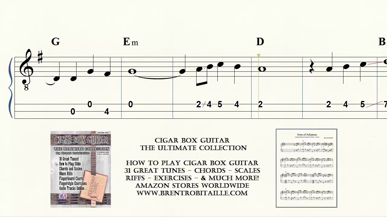Cigar Box Guitar The Water Is Wide Tab Notes Chords Brent