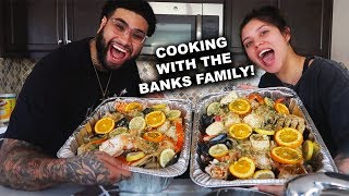 HOW TO MAKE CRAB BOIL |  COOKING WITH THE BANKS FAMILY