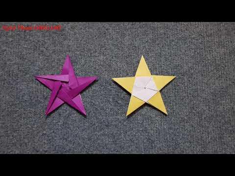 ORIGAMI - Gấp Ngôi Sao Năm Cánh #2 || How to Make Star