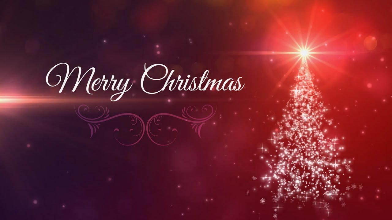 merry christmas tree animated background loop christmas card youtube