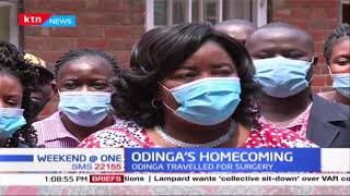 Odinga's Homecoming: Ida Odinga says Husband is doing well as he is set to return to Kenya soon