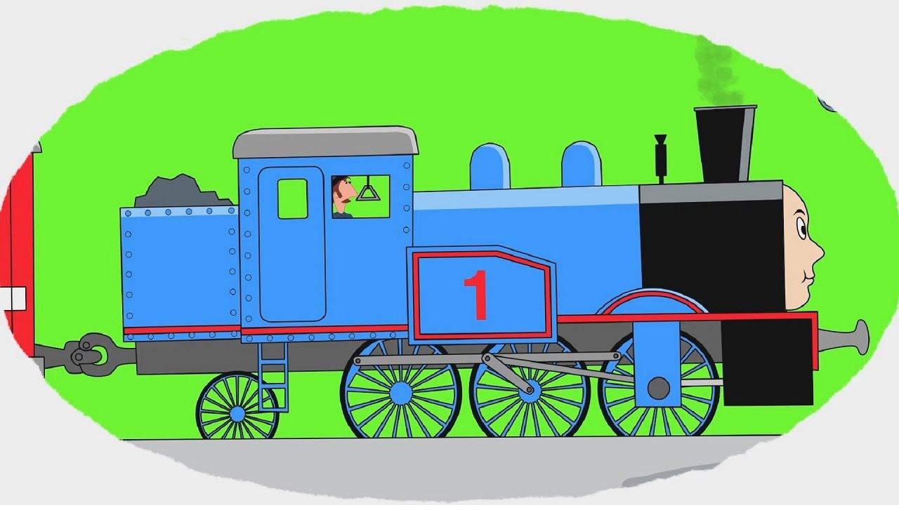 Мультик - Раскраска. Учим Цвета - Легендарные поезда ...