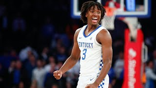 Kentucky basketball freshman guard tyrese maxey talks about scoring 26 points in uk's 69-62 win over michigan state the champions classic on nov. 5, 2019....