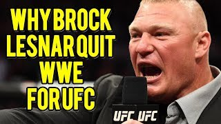 Is This Why Brock Lesnar Is Leaving WWE for UFC?
