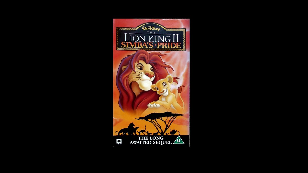 opening to the lion king ii simba's pride uk vhs 1999