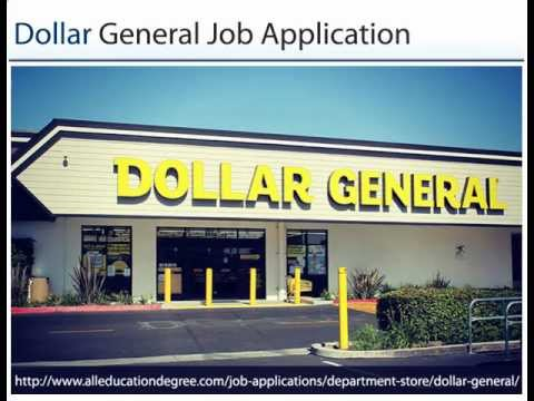 Dollar General Job Application