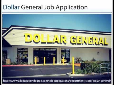 Dollar General Job Application