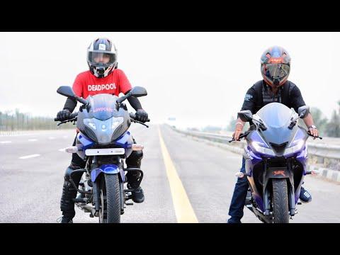 Yamaha R15 V3 VS PULSAR 220 | LONG RACE | TOP END