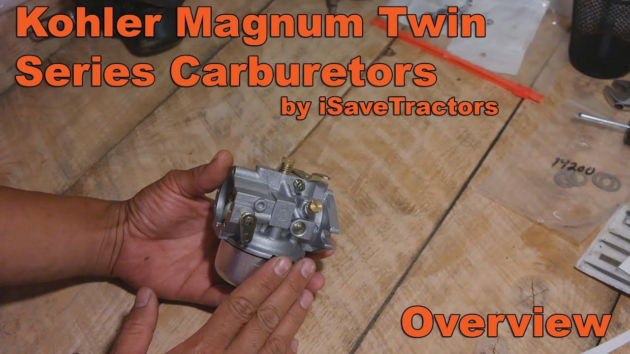 iSaveTractors Carburetor for Kohler Magnum M18, MV18, M20, MV20, KT17, and  KT19 Engines