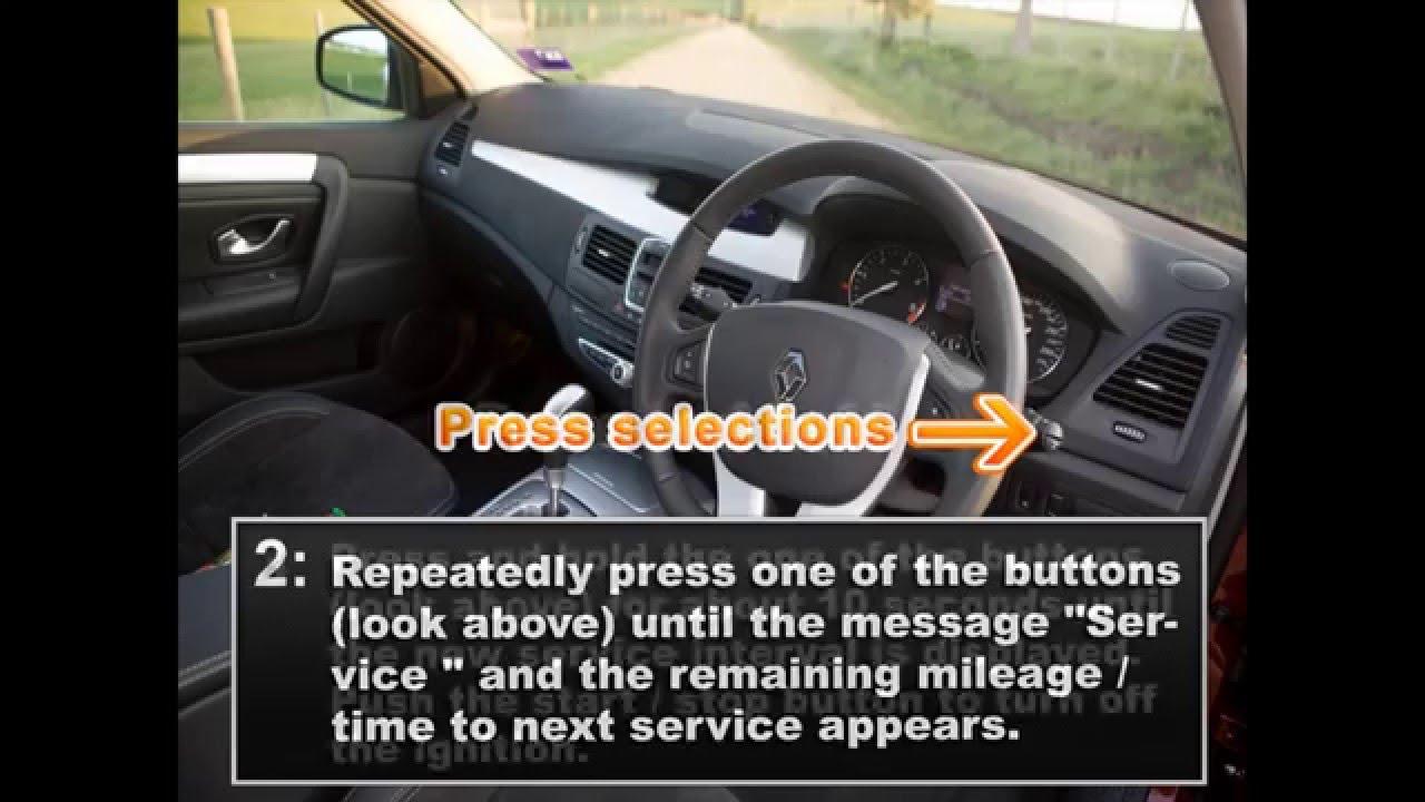 Renault Laguna Reset Service – Carro
