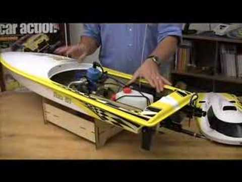 Huge rc gas boat youtube for Gas rc boat motors