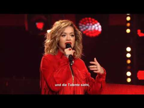 rita ora voice of germany