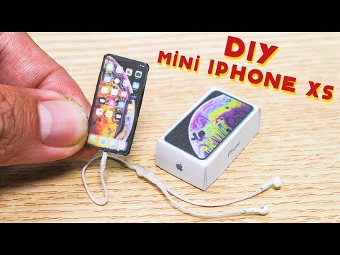 Unboxing Iphone XS #DIY Miniature Iphone XS