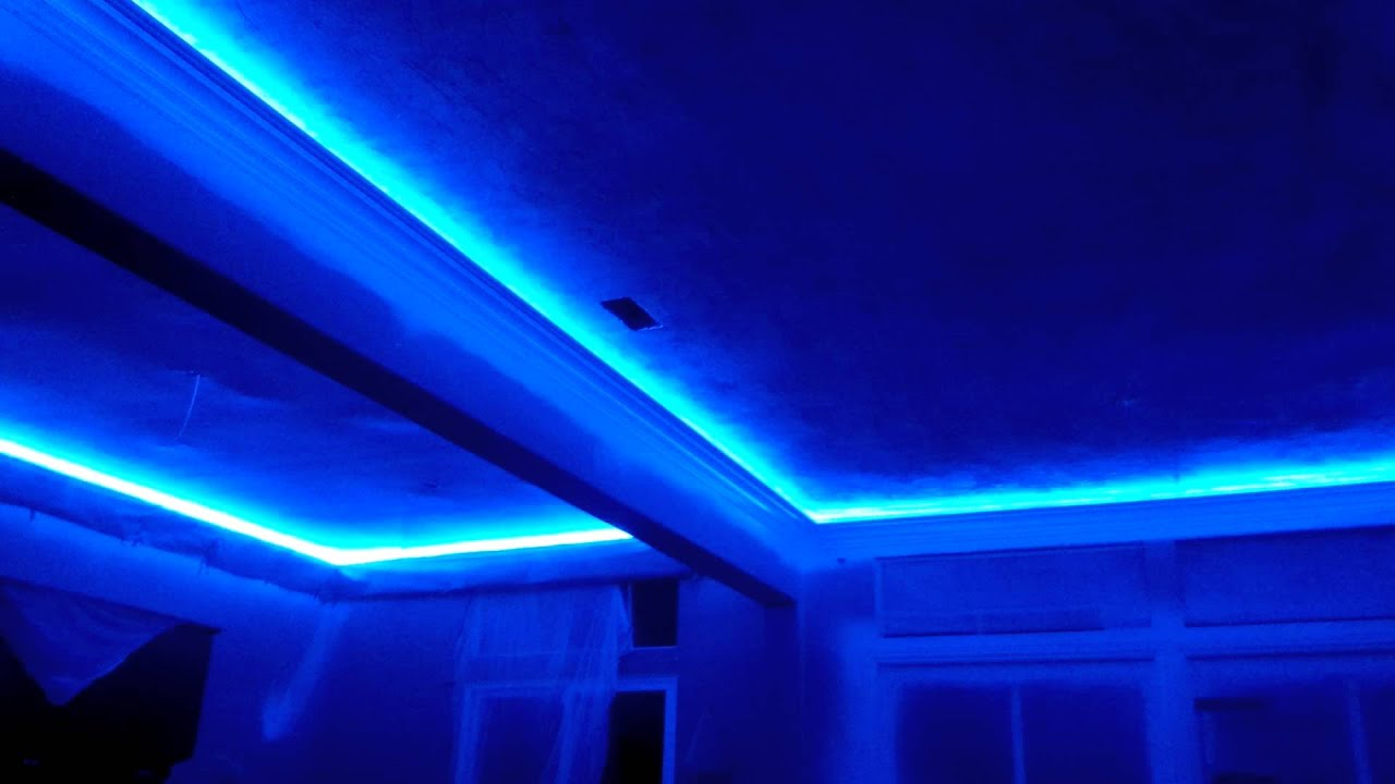 crown molding lighting - YouTube