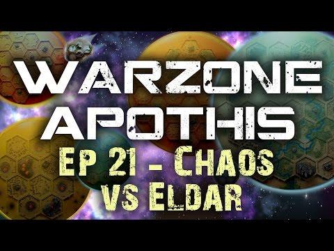 Chaos vs Eldar Warhammer 40k Battle Report - Warzone Apothis Ep 21