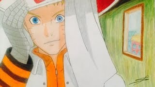 Drawing Naruto hokage from Boruto the movie/Dibujando a Naruto hokage