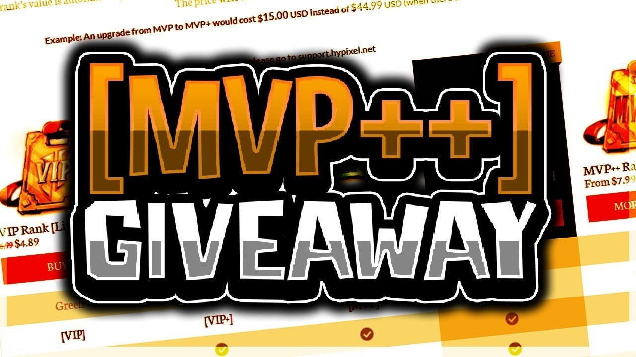 NEW YEAR MVP++ HYPIXEL RANK GIVEAWAY! (FREE MVP++ RANK UPGRADE) by  LittleDoesMC