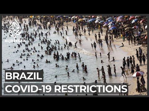 Rio de Janeiro's beaches fill up as COVID restrictions ease