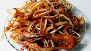 КОПЧЁНЫЕ КАЛЬМАРЫ И КРЕВЕТКИ В ДОМАШНЕЙ КОПТИЛЬНЕ  БРАВО, Вкусный рецепт из кальмаров