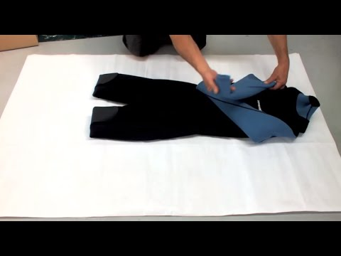 How To: Fold Up And Pack A Wetsuit