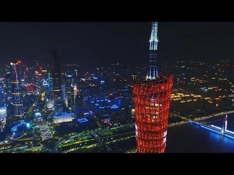 China Guangzhou Drone Footage 2017 - 2018 Guangzhou Aerial Photography and Tourism